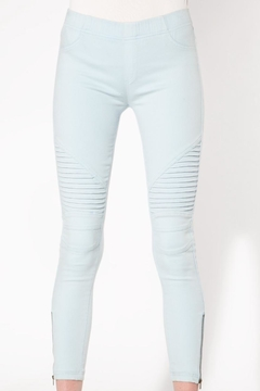 beulah Light-Blue Moto Jeggings - Alternate List Image
