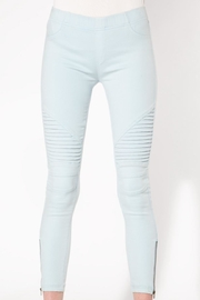beulah Light-Blue Moto Jeggings - Product Mini Image