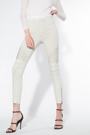 beulah Light-Grey Moto Jeggings - Product Mini Image