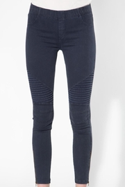 beulah Midnight-Blue Moto Jeggings - Product Mini Image