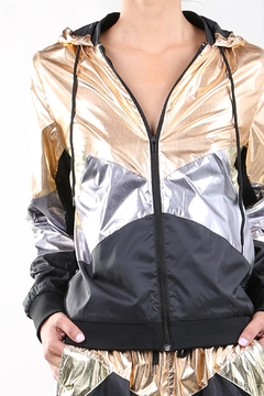 beulah Mixed Metal Windbreaker - Product List Image