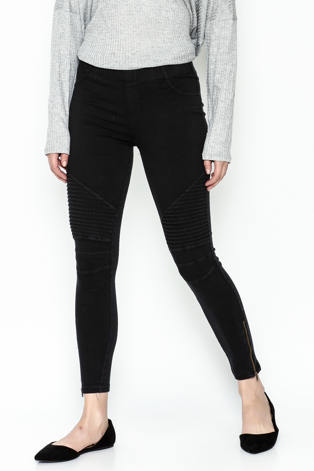 beulah Moto Pants - Front Cropped Image
