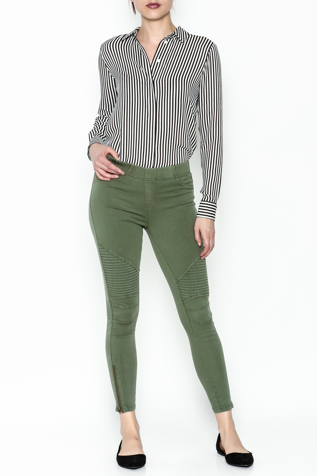 beulah Moto Pants - Side Cropped Image