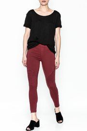 beulah Moto Pants - Side cropped
