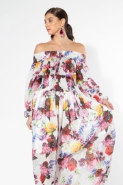 beulah Off-Shoulder Floral Maxi - Front full body