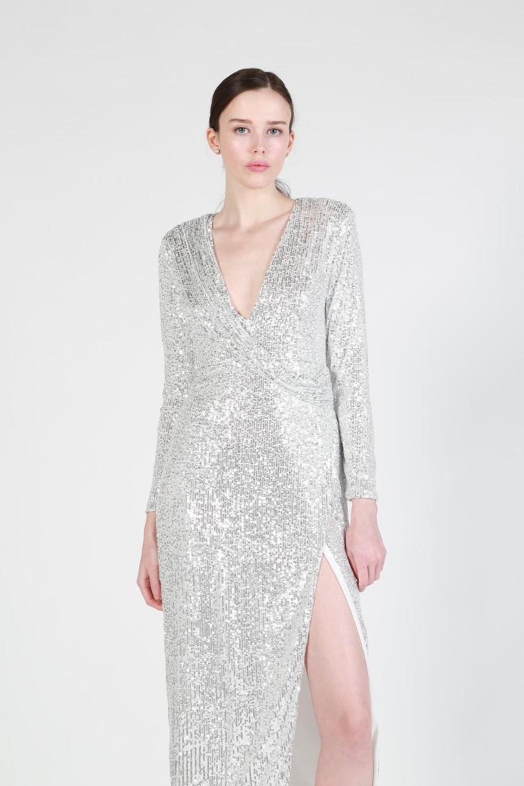 beulah Sequin Maxi Dress - Front Full Image