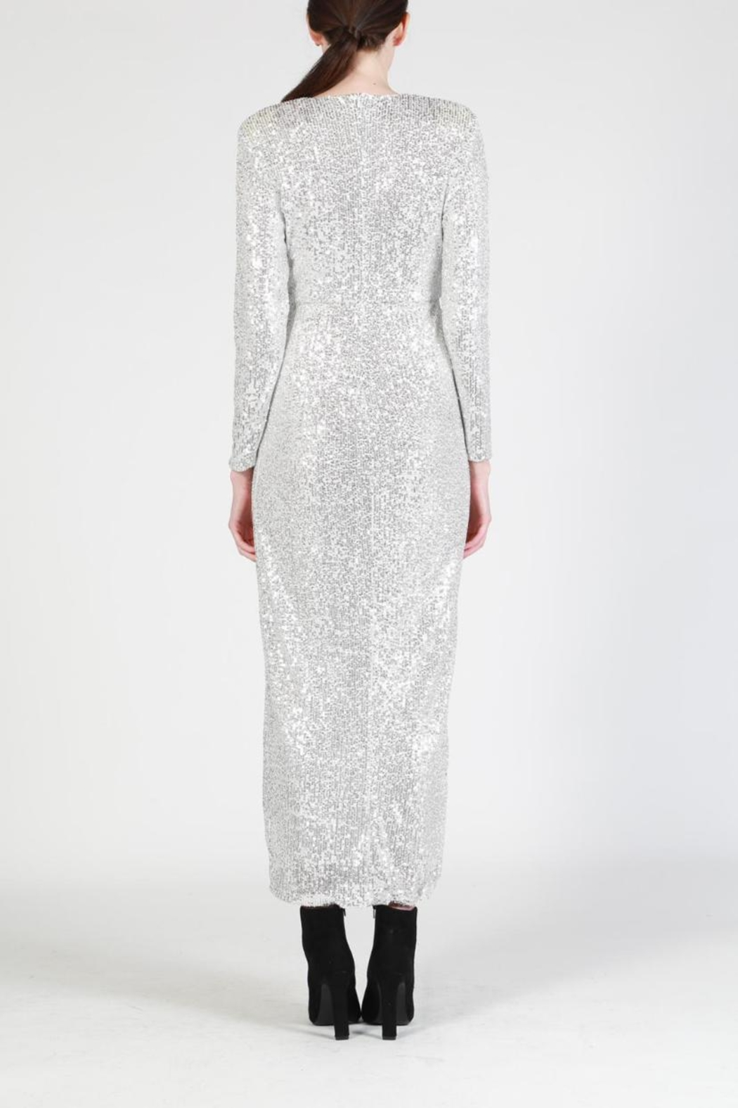 beulah Sequin Maxi Dress - Side Cropped Image