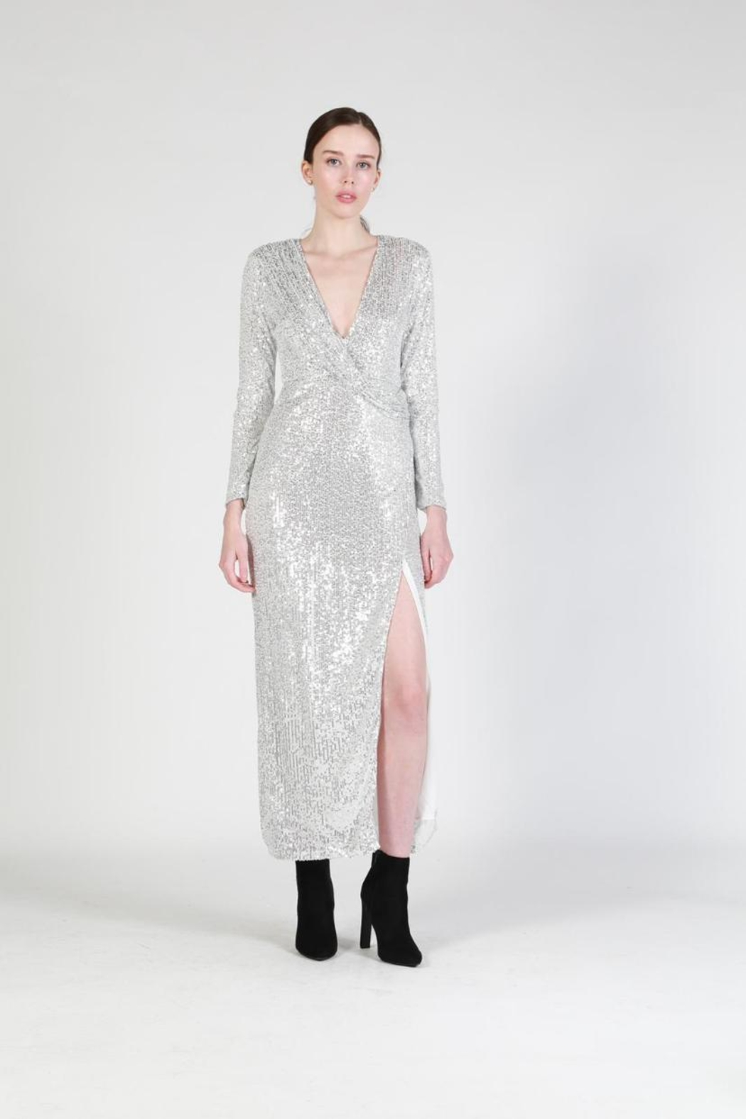 beulah Sequin Maxi Dress - Front Cropped Image