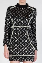 beulah Sequin Pearls Dress - Side cropped