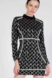 beulah Sequin Pearls Dress - Front full body