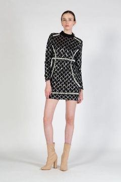beulah Sequin Pearls Dress - Product List Image