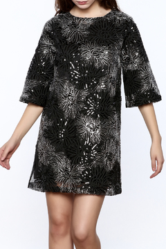 beulah Black And Silver Sequined Shift Dress - Product List Image