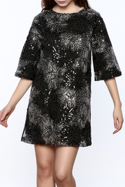 beulah Black And Silver Sequined Shift Dress - Product Mini Image
