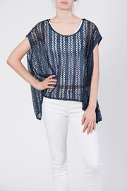 beulah Sheer Knit Top - Front full body
