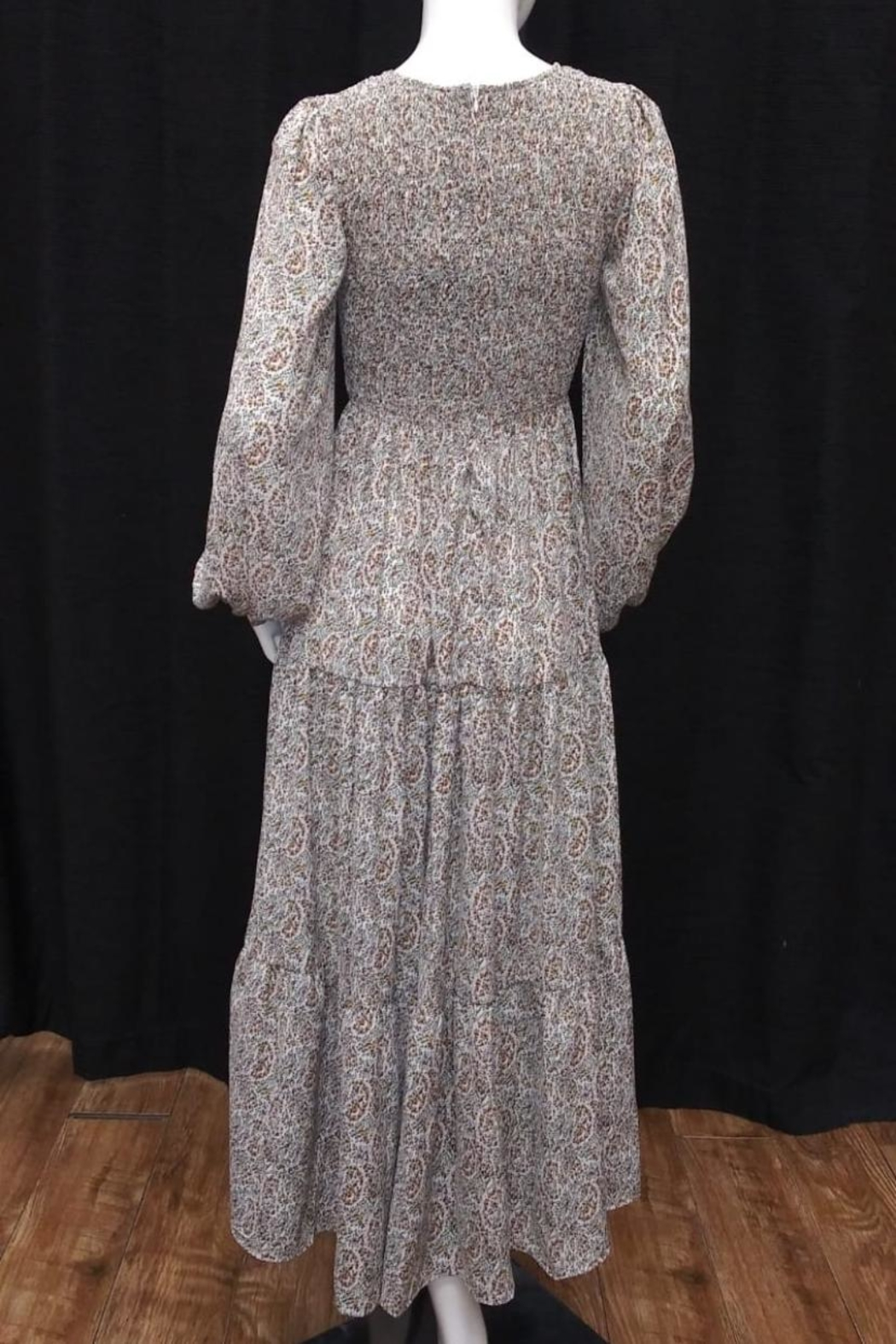 beulah Smocked Paisley Dress - Front Full Image