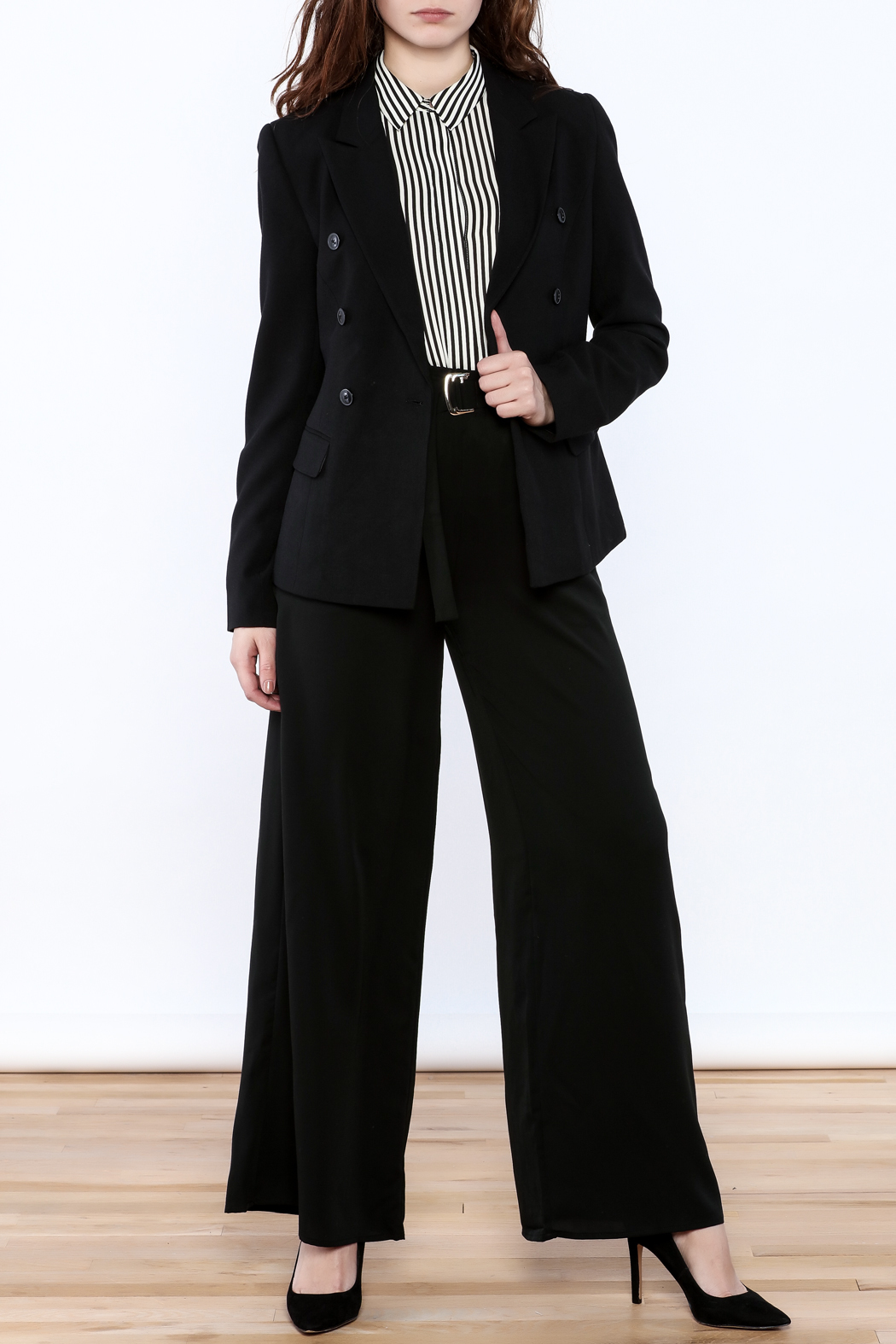 BEULAH STYLE Double Breasted Blazer - Front Full Image