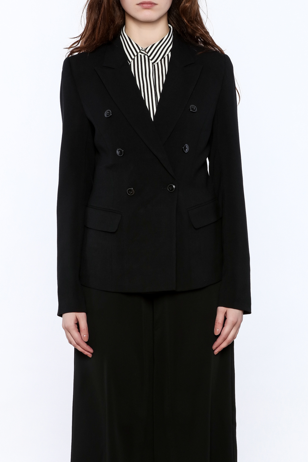 BEULAH STYLE Double Breasted Blazer - Side Cropped Image