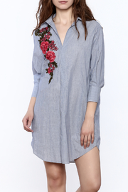 BEULAH STYLE Floral Applique Dress - Front cropped
