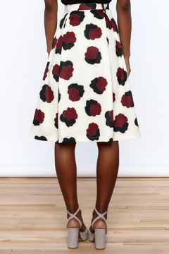 BEULAH STYLE Ivory Floral Skirt - Alternate List Image