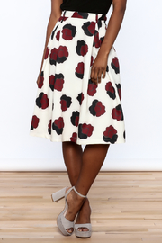 BEULAH STYLE Ivory Floral Skirt - Product Mini Image