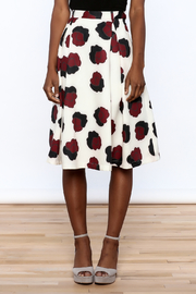 BEULAH STYLE Ivory Floral Skirt - Side cropped