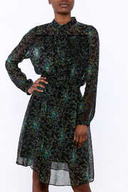 BEULAH STYLE Sheer Floral Dress - Front cropped