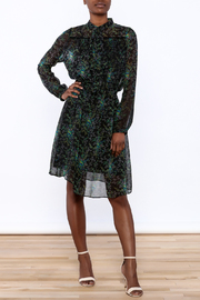BEULAH STYLE Sheer Floral Dress - Front full body