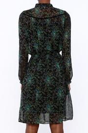 BEULAH STYLE Sheer Floral Dress - Back cropped