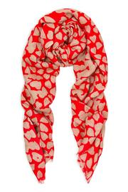 BEULAH LONDON Red Heart Shawl - Front cropped