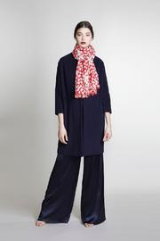 BEULAH LONDON Red Heart Shawl - Front full body