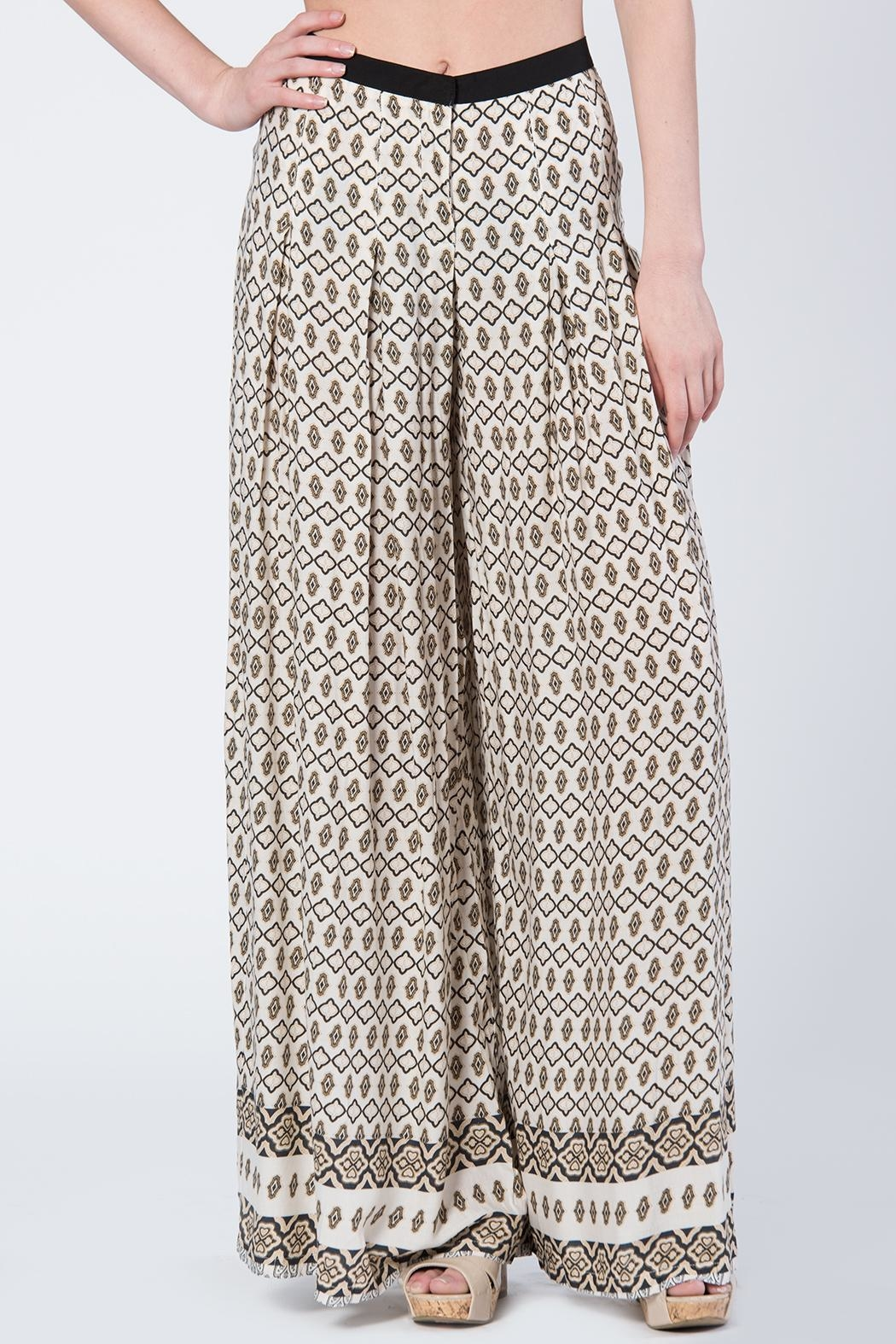 BEULAH STYLE Beulah Print Pants - Side Cropped Image