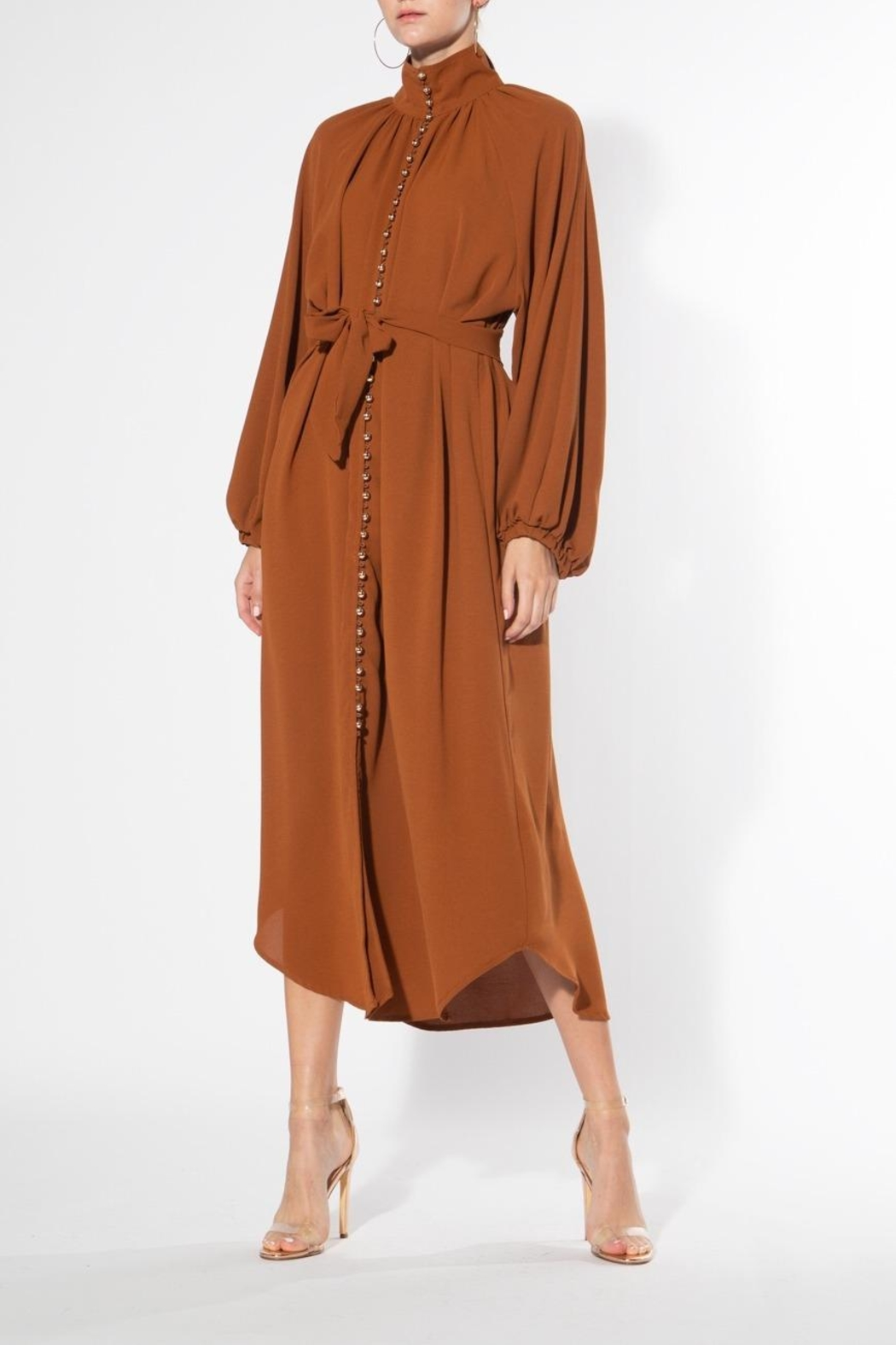 BEULAH STYLE Cinnamon Midi Dress - Front Cropped Image