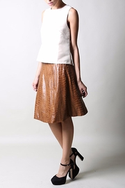 BEULAH STYLE Faux Croc Skirt - Product Mini Image