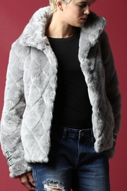BEULAH STYLE Faux Fur Coat - Front cropped