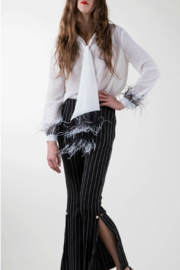 BEULAH STYLE Feather Detail Top - Product Mini Image