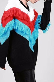 BEULAH STYLE Fringe Sweater - Front cropped