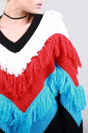 BEULAH STYLE Fringe Sweater - Front full body