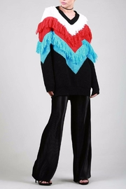 BEULAH STYLE Fringe Sweater - Side cropped