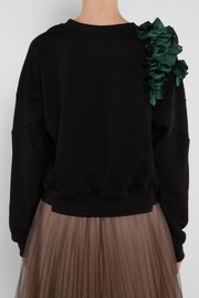 BEULAH STYLE Green Ruffle Sweater - Other