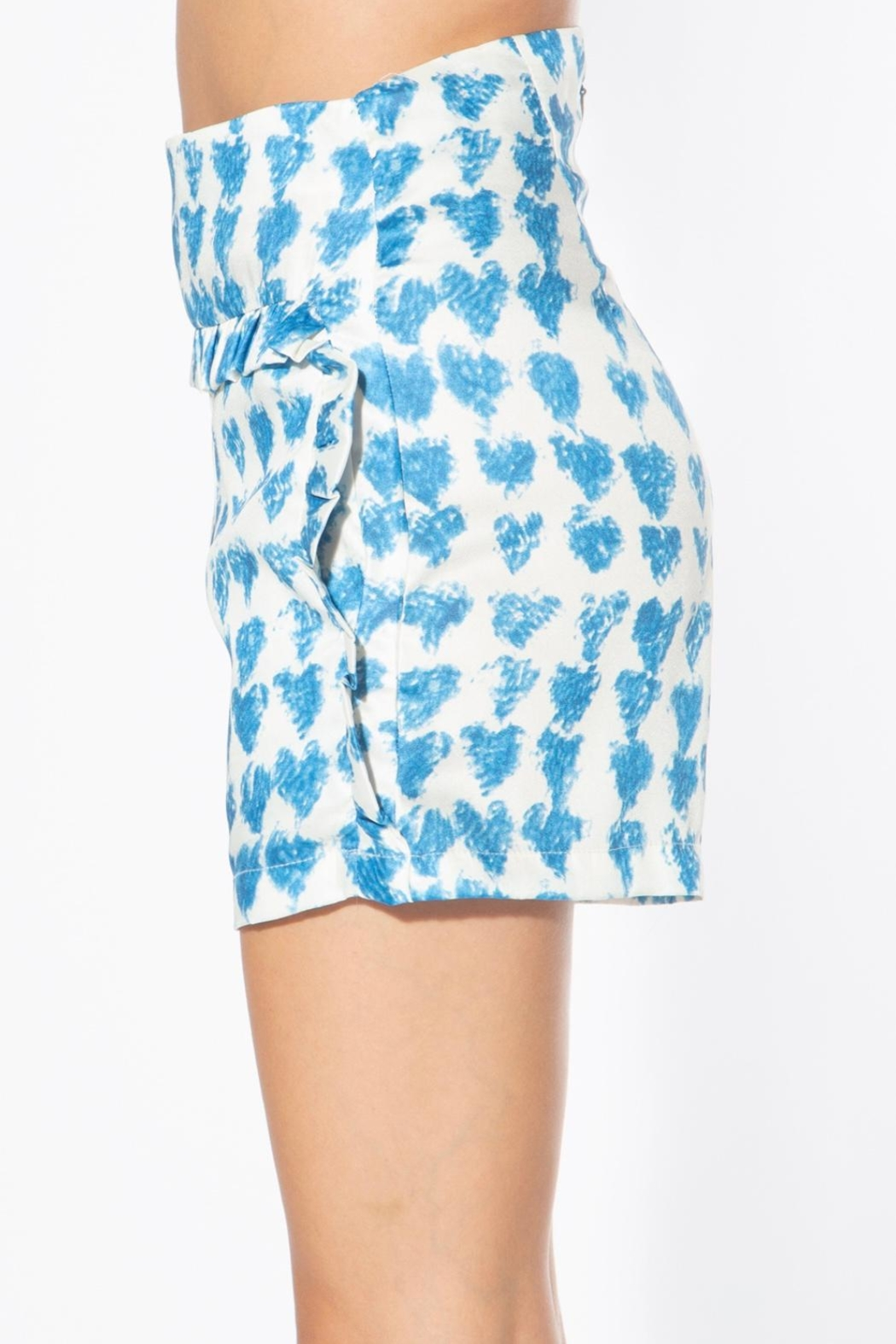 BEULAH STYLE Heart Satin Shorts - Front Full Image