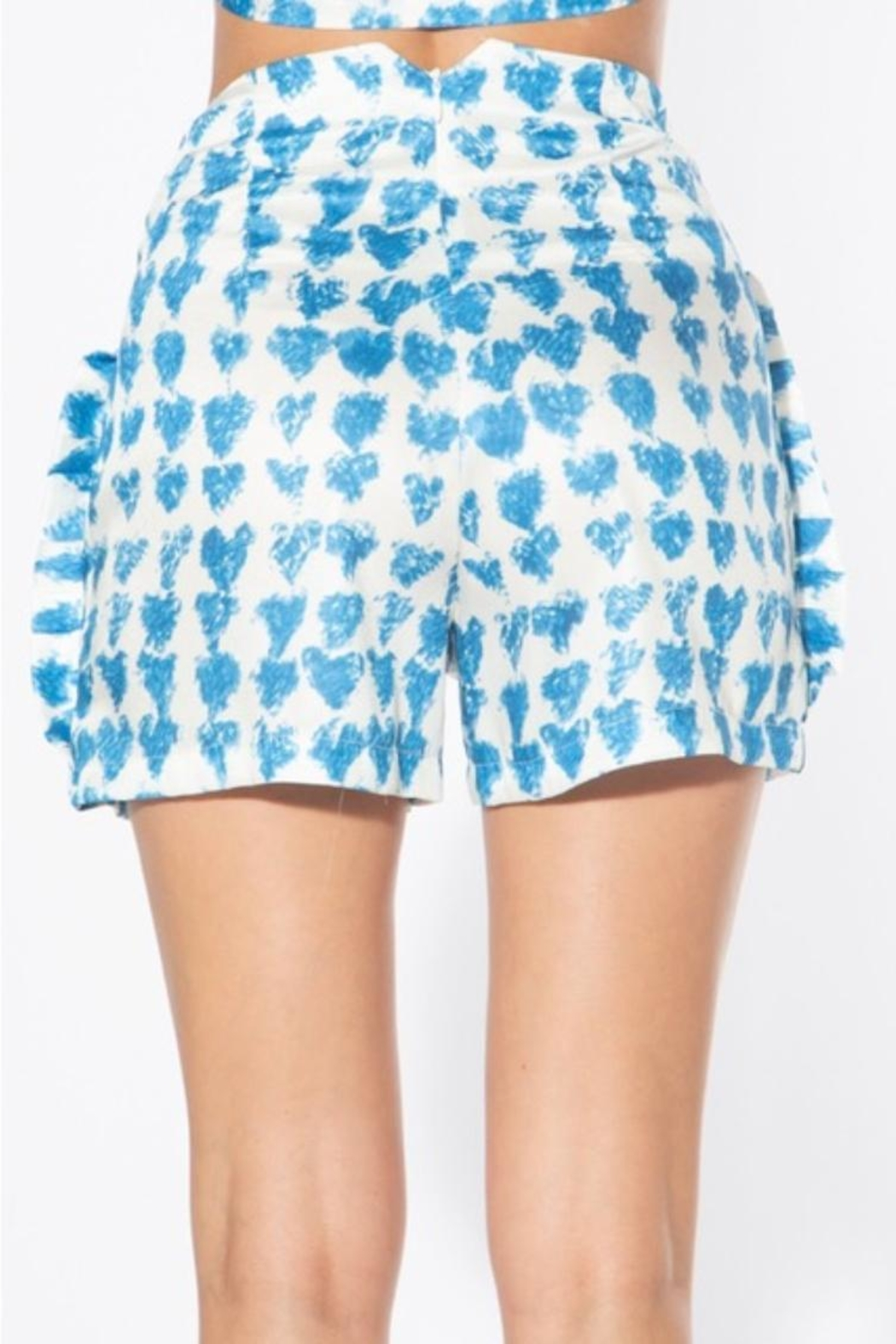BEULAH STYLE Heart Satin Shorts - Side Cropped Image