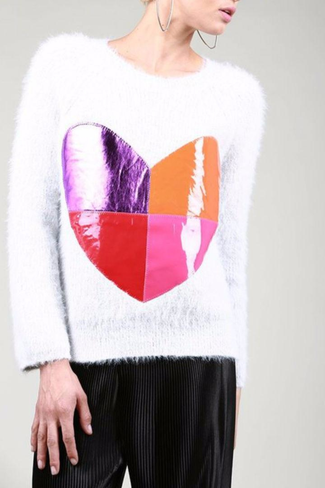 BEULAH STYLE Heart Sweater - Main Image