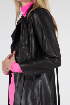 BEULAH STYLE Leather Trench Coat - Alternate List Image
