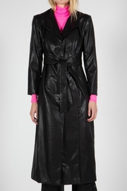 BEULAH STYLE Leather Trench Coat - Product Mini Image
