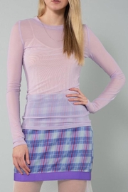 BEULAH STYLE Lilac Sheer Top - Product Mini Image
