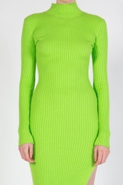 BEULAH STYLE Lime Sweater Dress - Back cropped