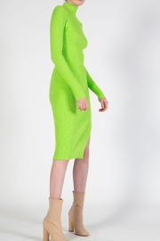 BEULAH STYLE Lime Sweater Dress - Front full body