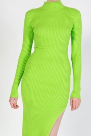 BEULAH STYLE Lime Sweater Dress - Side cropped