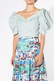 BEULAH STYLE Mint Puff-Sleeve Blouse - Other