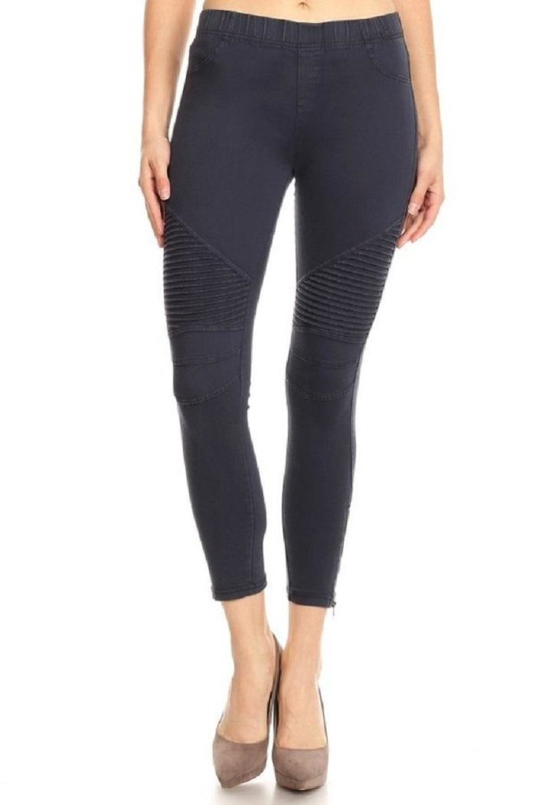 BEULAH STYLE Moto Pant - Front Cropped Image